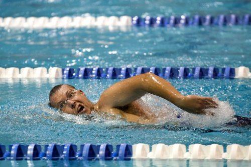 水泳用背中の筋肉ストレッチ